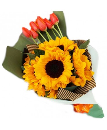 Bouquet de girasoles y...